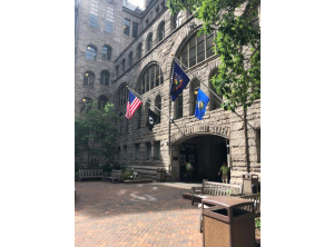 Allegheny County Courthouse - 2 outrigger style flagpoles and 1 ground set mounted flagpole restoration
