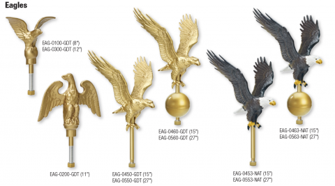 Flying Eagle Flagpole Topper