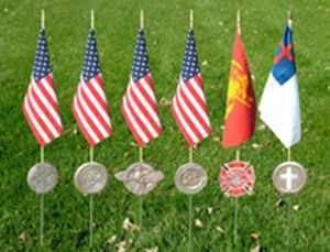 Memorial Marker Flag Holders
