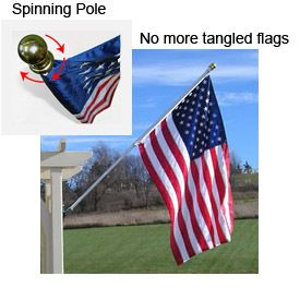 Spinning House Flag Pole