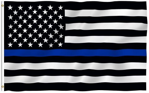 Police USA Thin Blue Line Flag