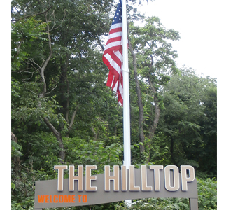 The Hilltop driveway entrence